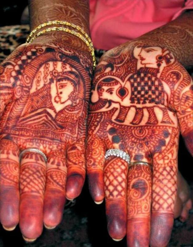 mendi 3 Индия и Индонезия: Кружева, нарисованные хной