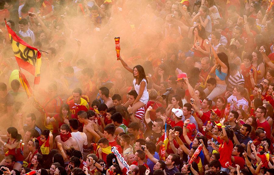 roja10 Триумф сборной Испании в Мадриде