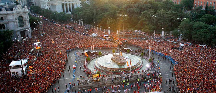 roja11 Триумф сборной Испании в Мадриде