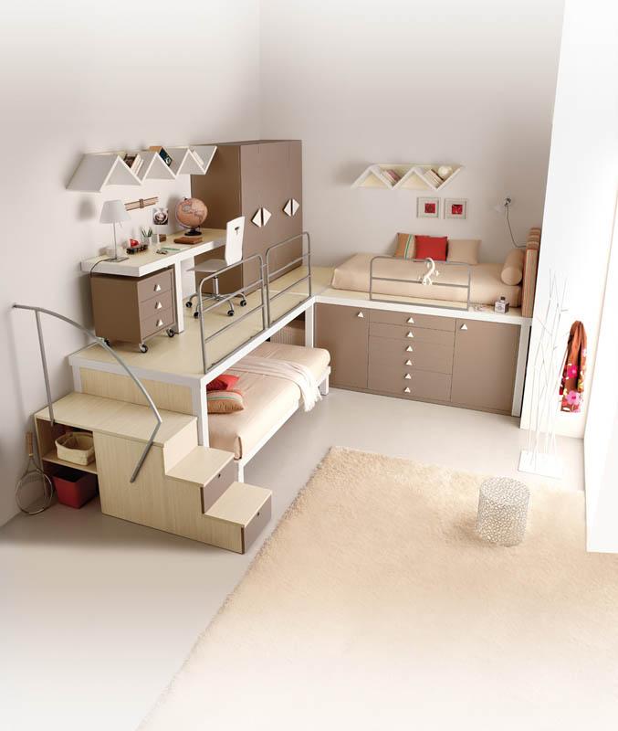 rooms 12 Как сэкономить место в детской комнате