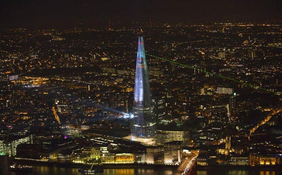 shard lightshow 09 Официальное открытие самого высокого небоскрёба Европы The Shard