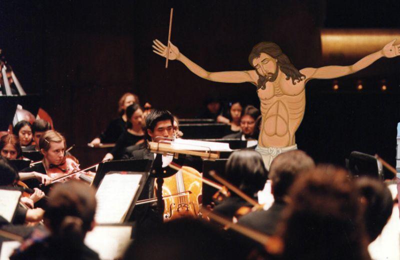 02Jesus Conducting An Orchestra Фотопроект «Иисус повсюду»