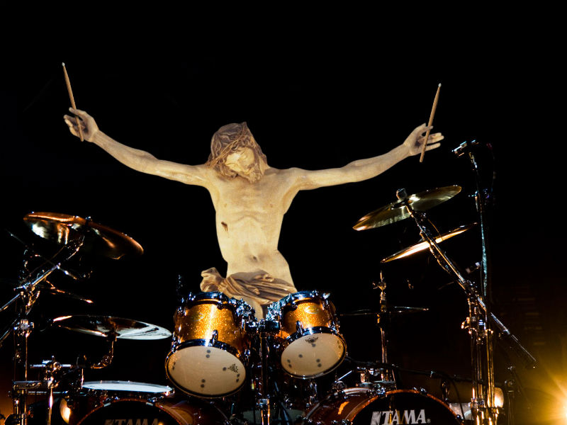 02zJesus Plays A Drum Solo Фотопроект «Иисус повсюду»
