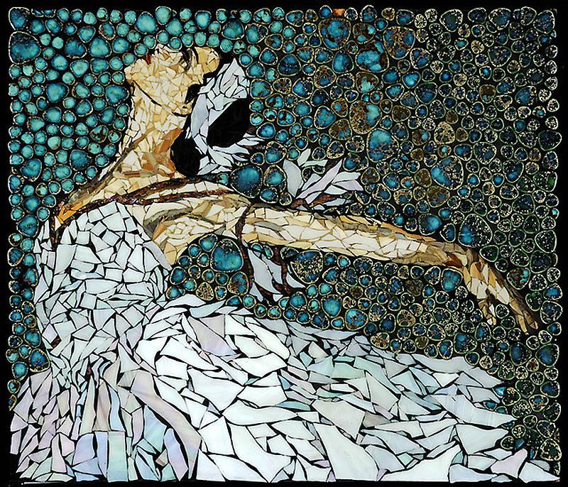 1144 Невероятные мозаики из ключей, деталей часов и других механизмов