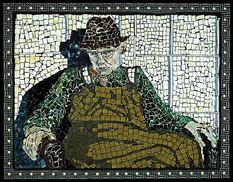 1428 Невероятные мозаики из ключей, деталей часов и других механизмов