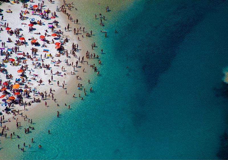 3136 Лето, пляж   вид сверху
