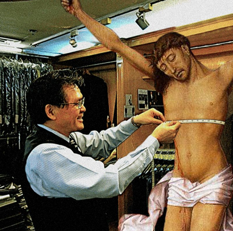 32Jesus Getting Fitted For A Suit Фотопроект «Иисус повсюду»