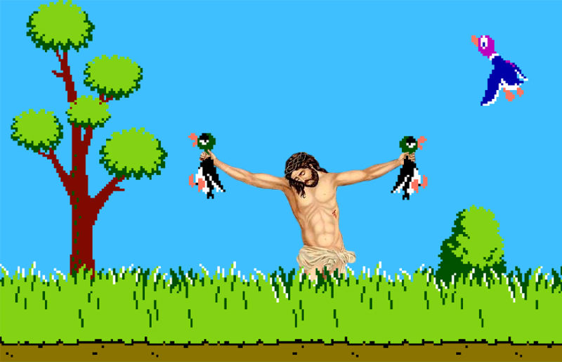 35Jesus In Duck Hunt Фотопроект «Иисус повсюду»