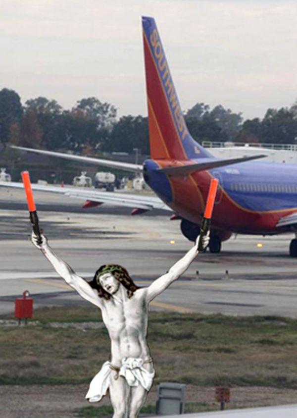 38Jesus Controlling Air Traffic Фотопроект «Иисус повсюду»