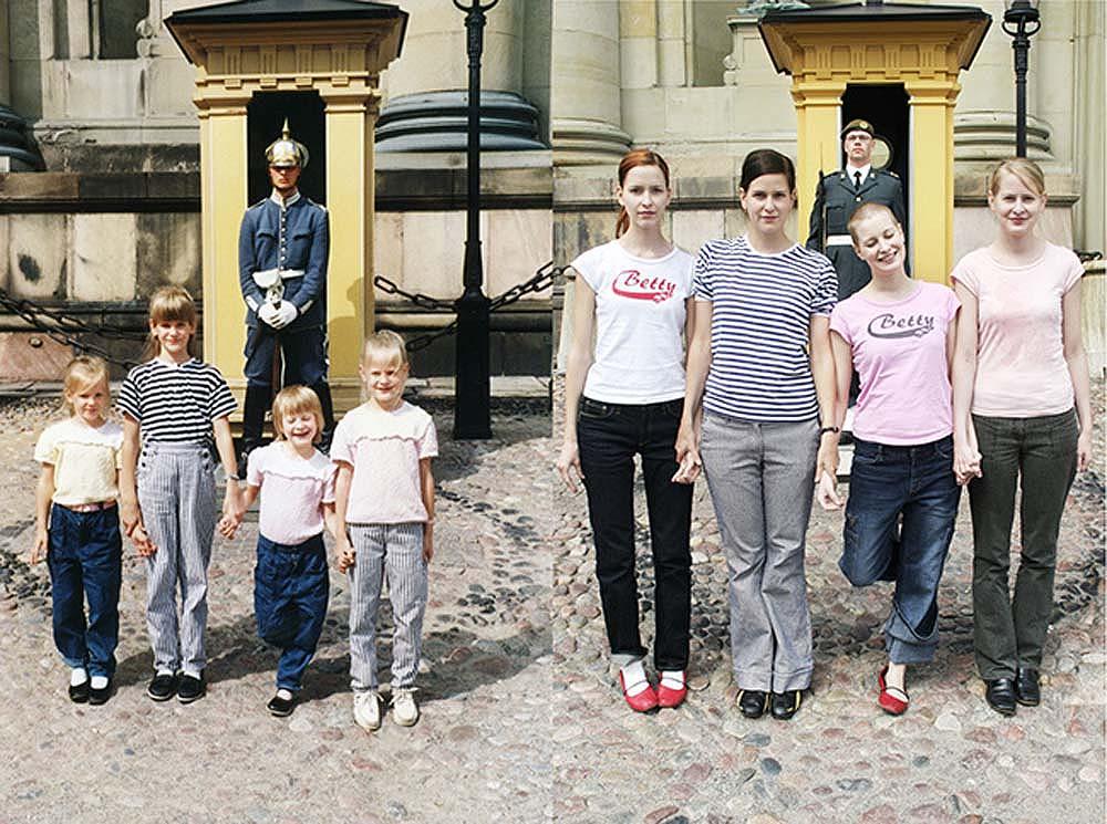 4sisters 1 Римейк старых фотографий из семейного альбома