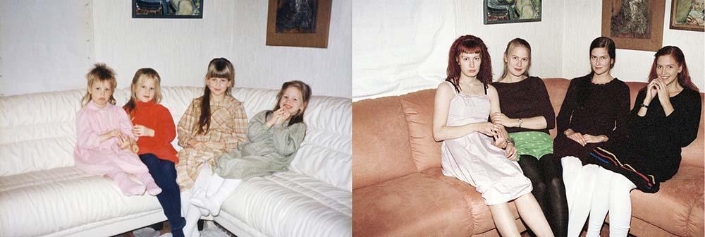 4sisters 10 Римейк старых фотографий из семейного альбома