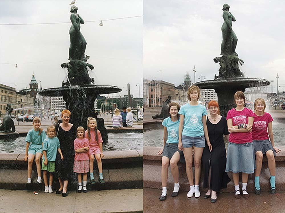 4sisters 16 Римейк старых фотографий из семейного альбома