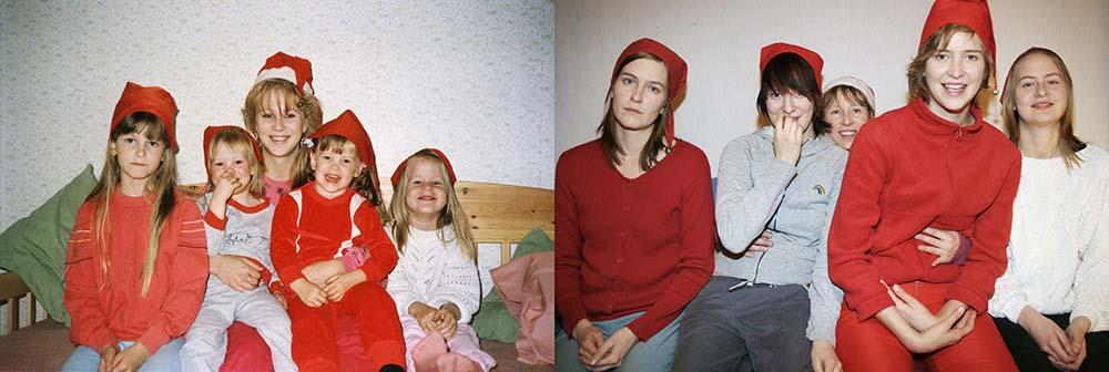 4sisters 19 Римейк старых фотографий из семейного альбома