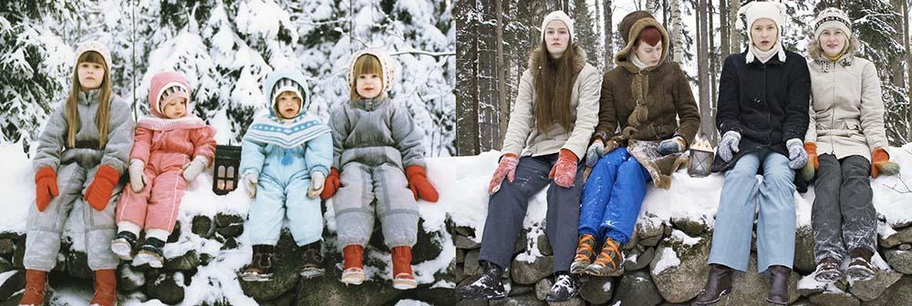 4sisters 2 Римейк старых фотографий из семейного альбома