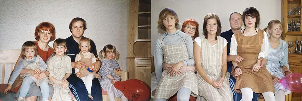 4sisters 20 Римейк старых фотографий из семейного альбома