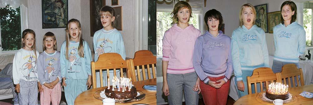 4sisters 26 Римейк старых фотографий из семейного альбома
