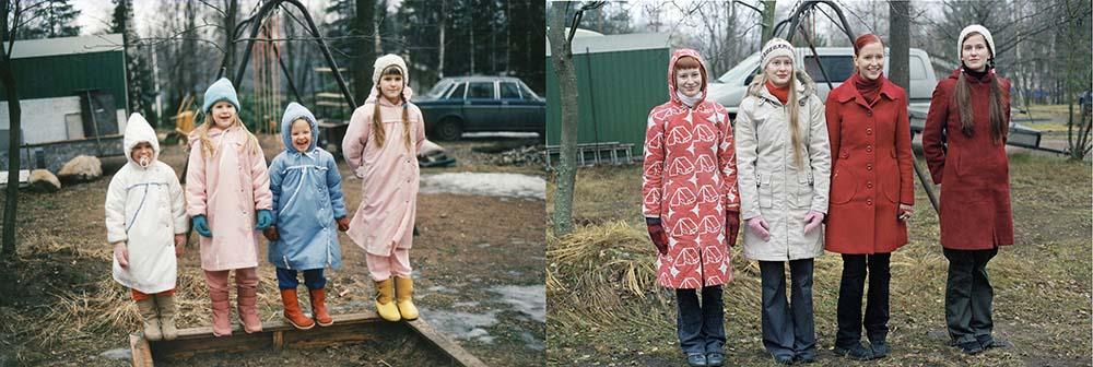 4sisters 27 Римейк старых фотографий из семейного альбома