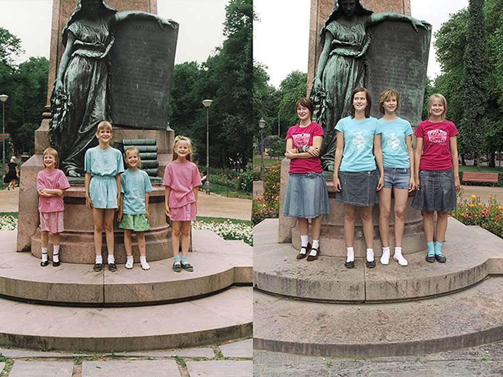 4sisters 5 Римейк старых фотографий из семейного альбома