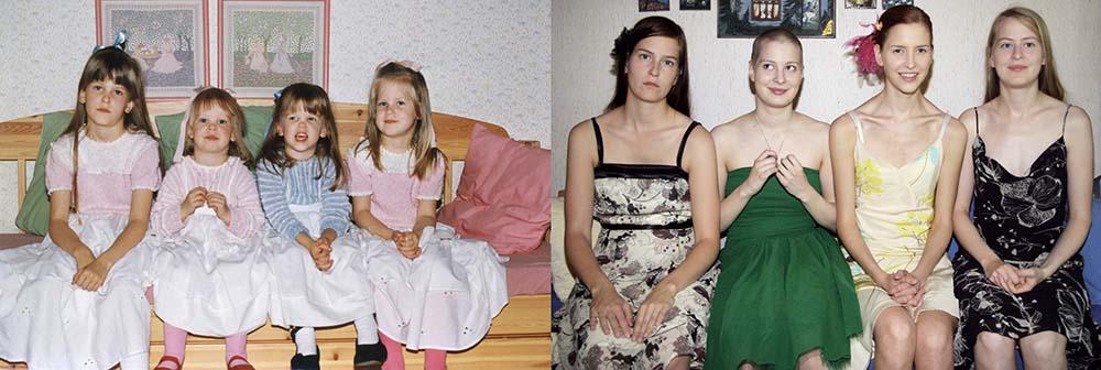4sisters 7 Римейк старых фотографий из семейного альбома