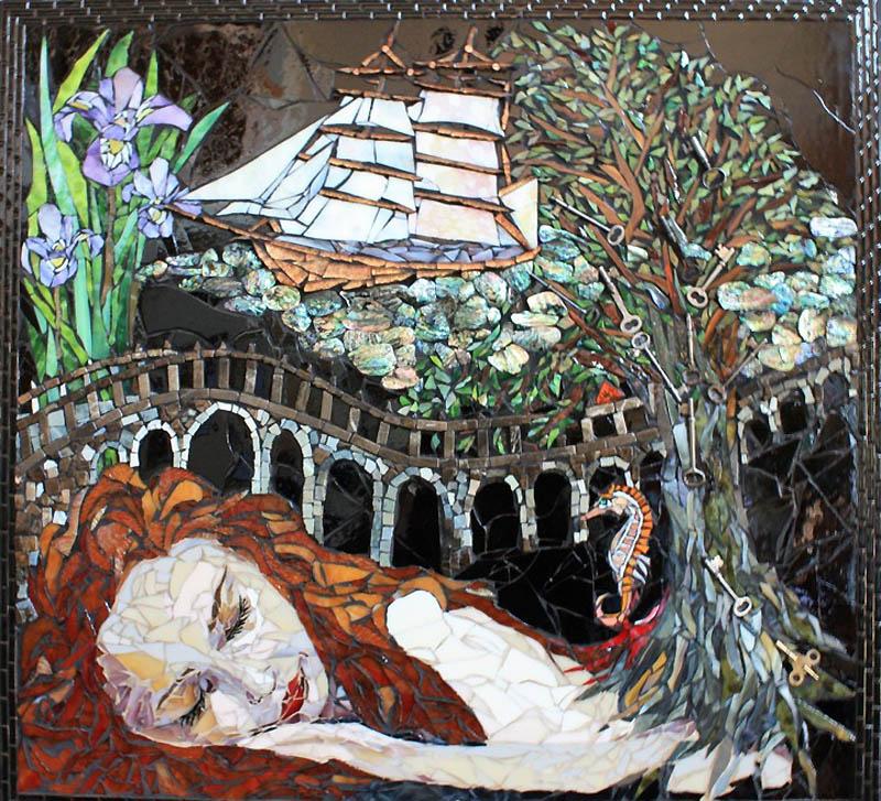 547 Невероятные мозаики из ключей, деталей часов и других механизмов