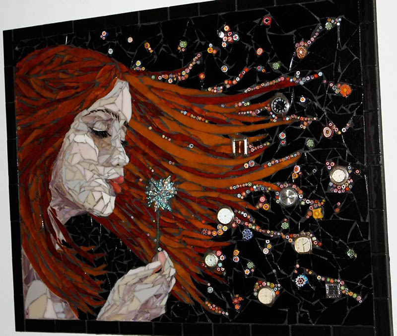 647 Невероятные мозаики из ключей, деталей часов и других механизмов