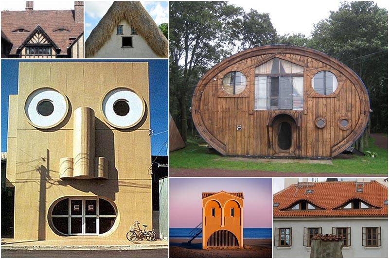 23 здания с забавными лицами