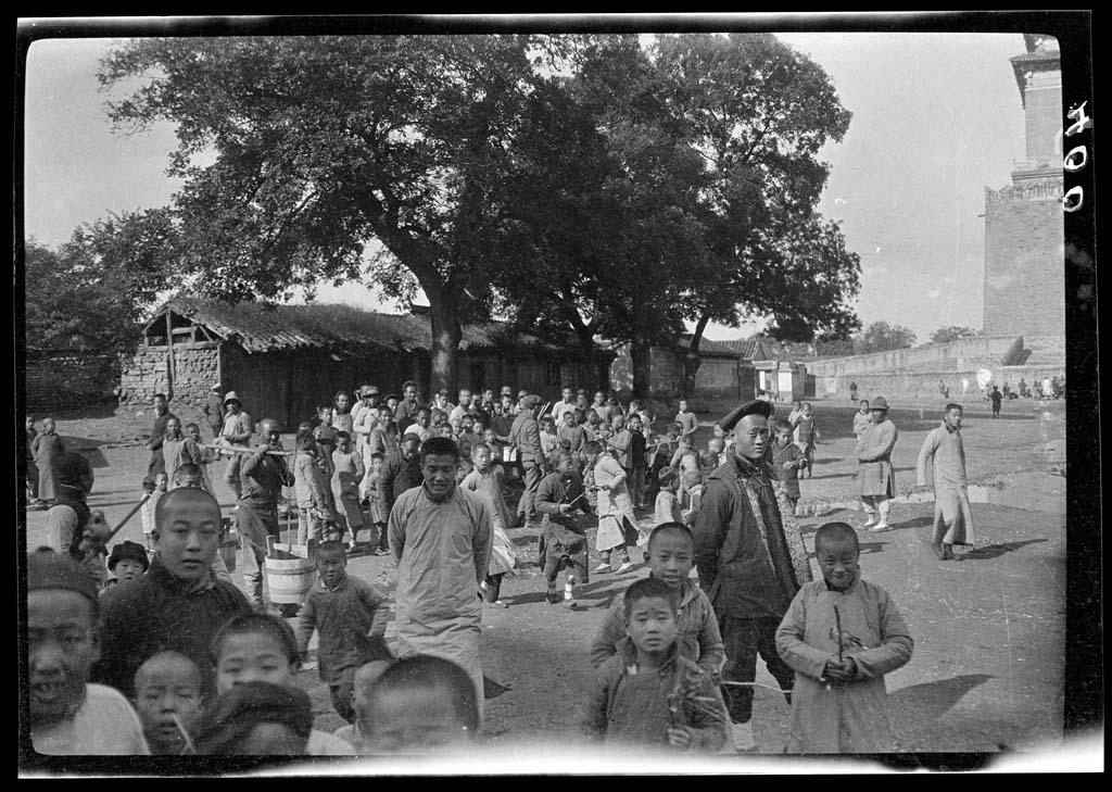 China 1 Черно белый Китай начала прошлого века