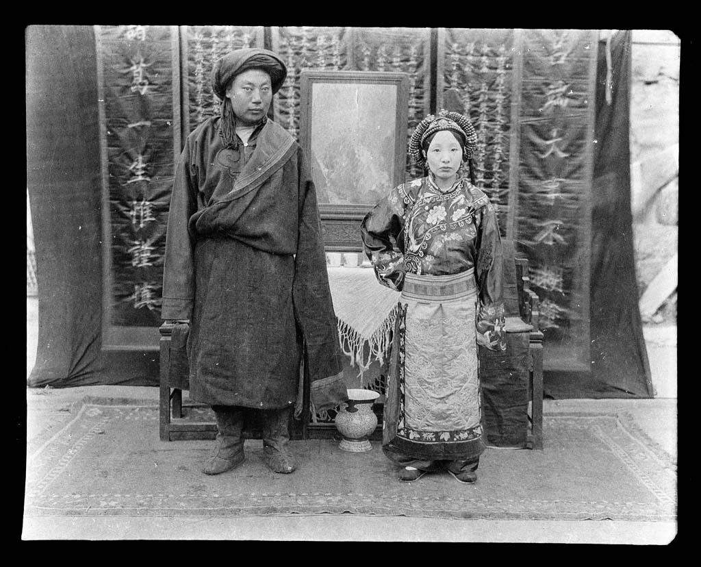 China 13 Черно белый Китай начала прошлого века