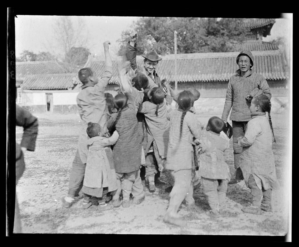 China 25 Черно белый Китай начала прошлого века