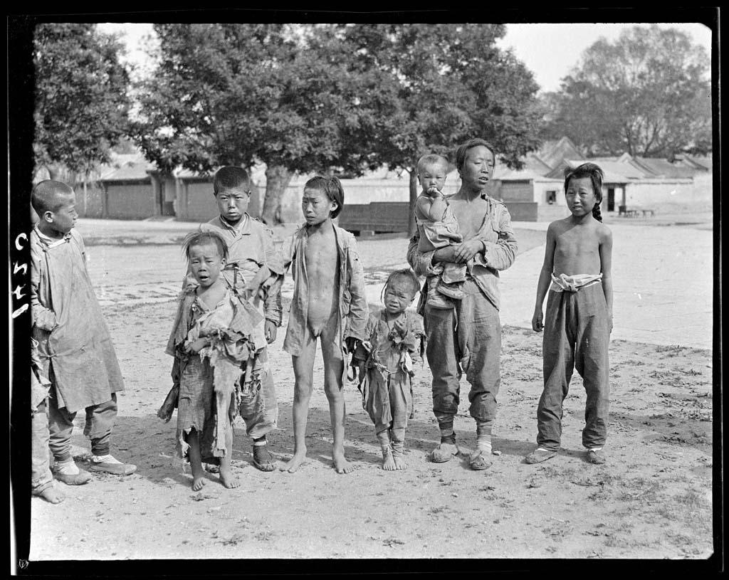 China 31 Черно белый Китай начала прошлого века