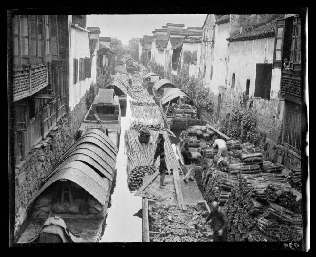 China 43 Черно белый Китай начала прошлого века