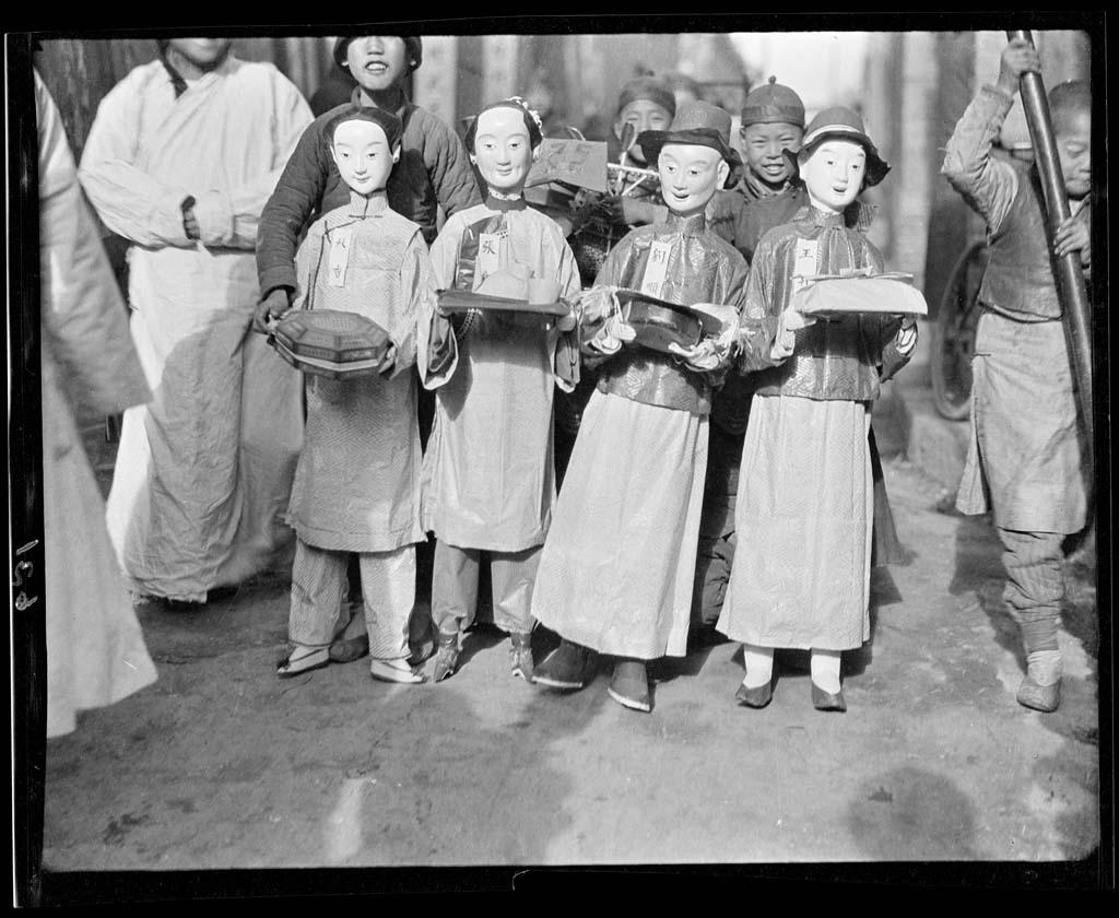 China 66 Черно белый Китай начала прошлого века