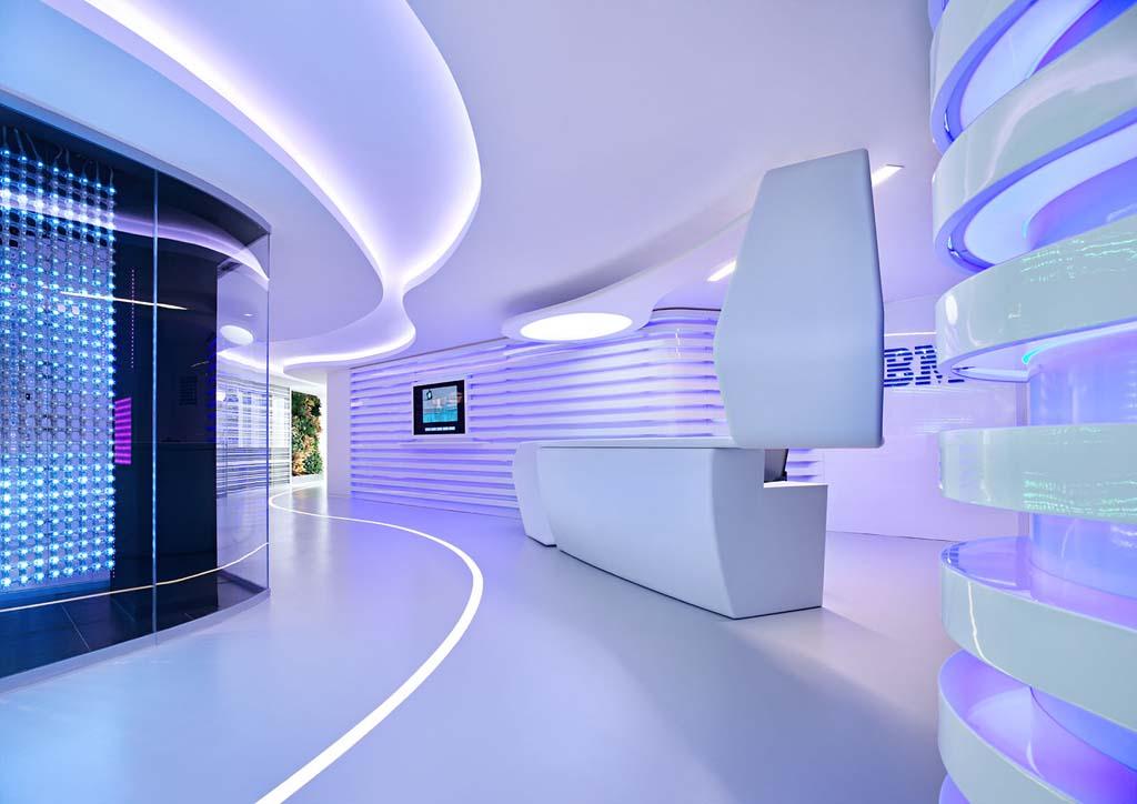 IBM 1 Редизайн офиса IBM в стиле Гостьи из будущего