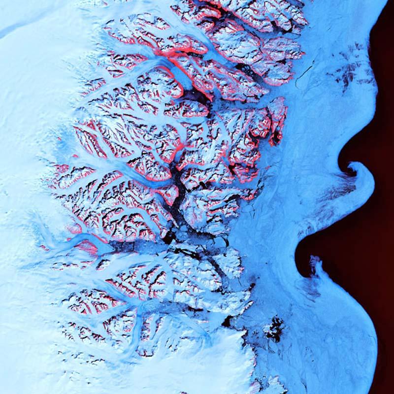 Landsatprogramme 14 Фото со спутника   Земля как произведение искусства