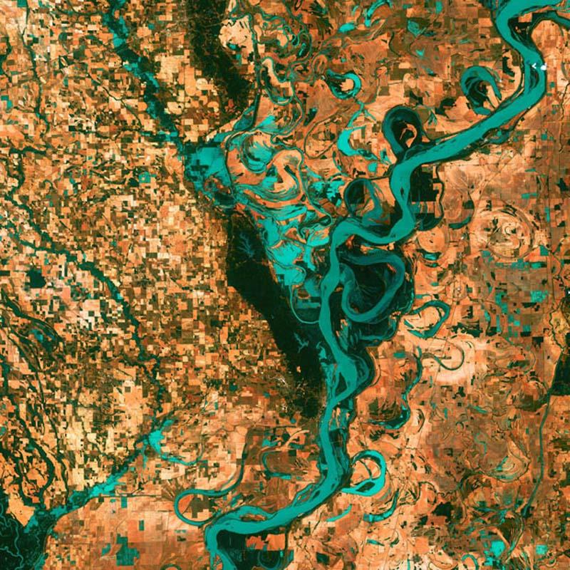 Landsatprogramme 2 Фото со спутника   Земля как произведение искусства