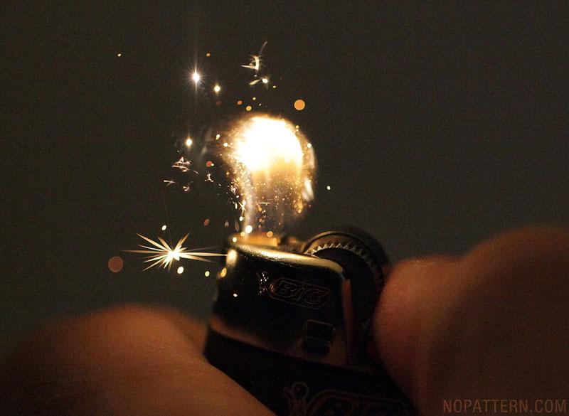Lighter 1 Зажигалка вблизи