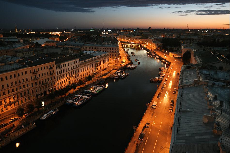 Один день, летний: Крыши Петрограда