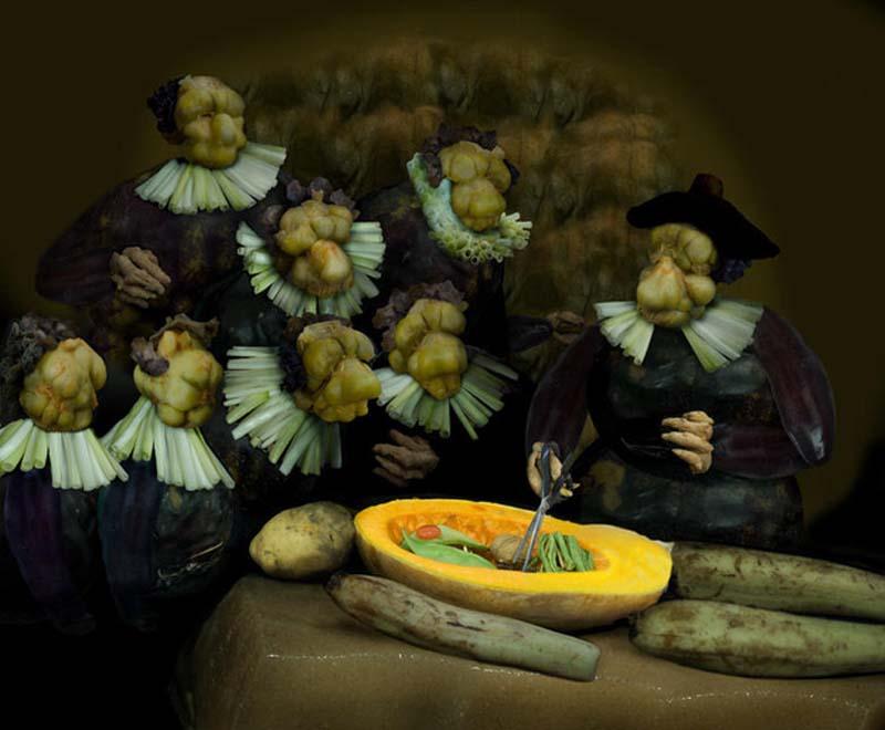 Произведения искусства в ремейках из еды