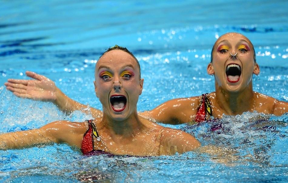 смешные картинки синхронного плавания