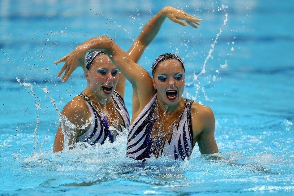 фото спортсменок синхронное плавание удобно использовать одежде