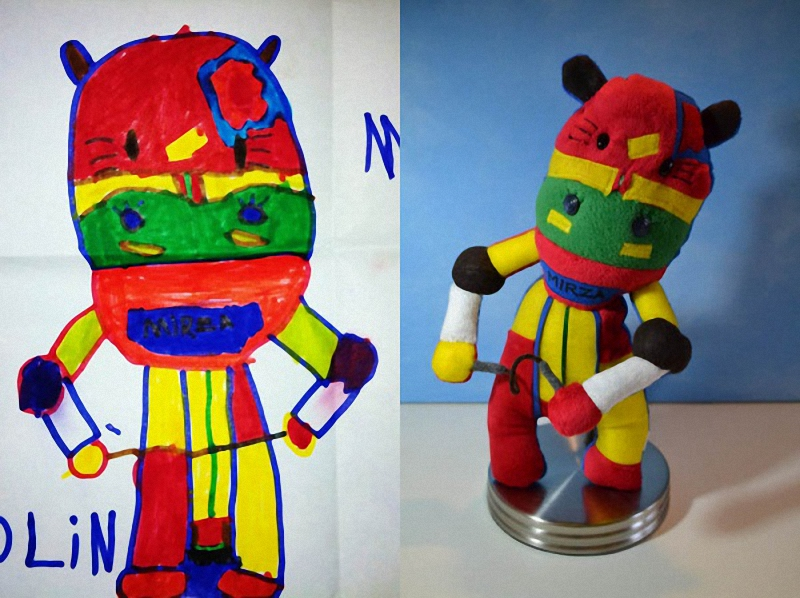 012 Игрушки, сшитые по рисункам детей