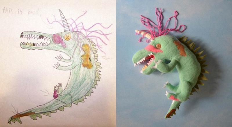 042 Игрушки, сшитые по рисункам детей