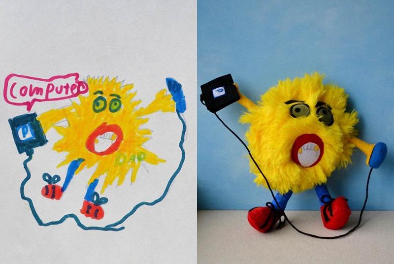 072 Игрушки, сшитые по рисункам детей