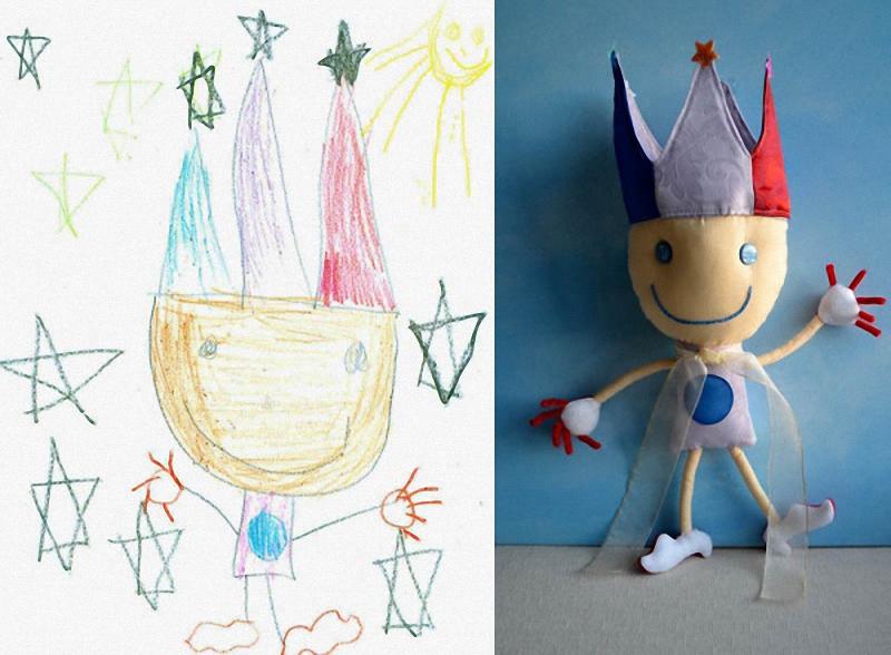 092 Игрушки, сшитые по рисункам детей