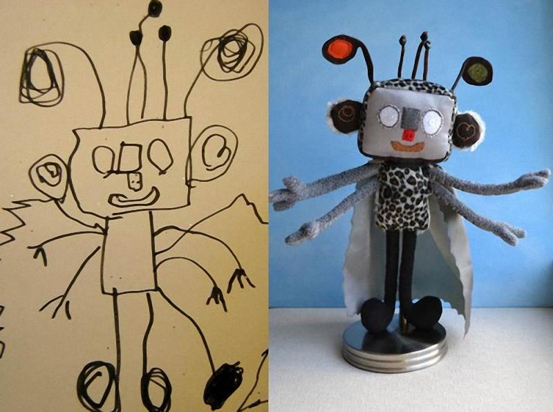 142 Игрушки, сшитые по рисункам детей