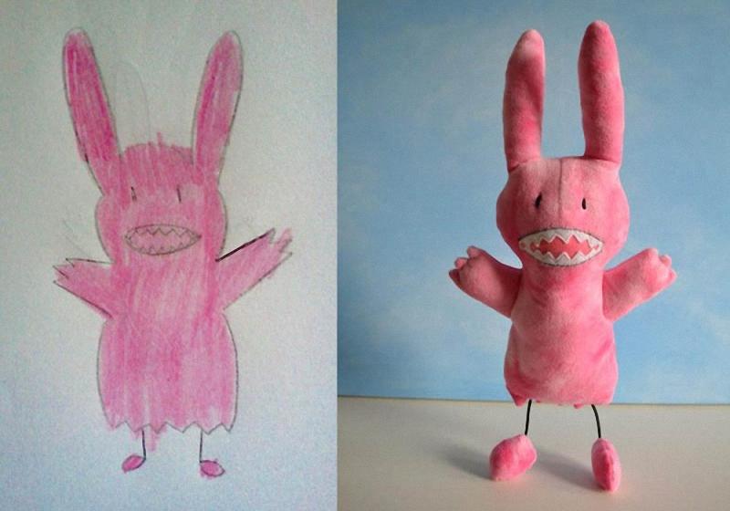152 Игрушки, сшитые по рисункам детей