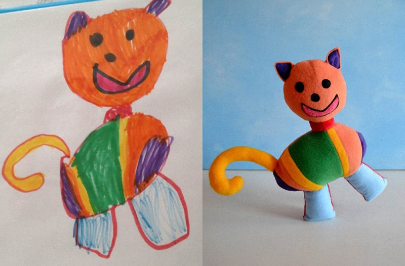 172 Игрушки, сшитые по рисункам детей