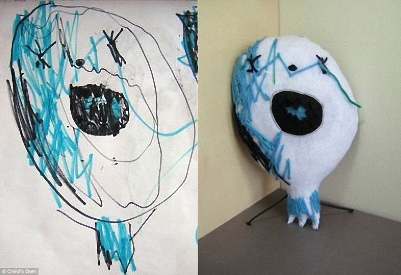 202 Игрушки, сшитые по рисункам детей
