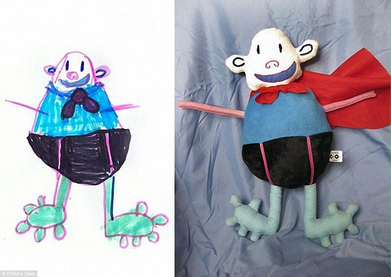 221 Игрушки, сшитые по рисункам детей