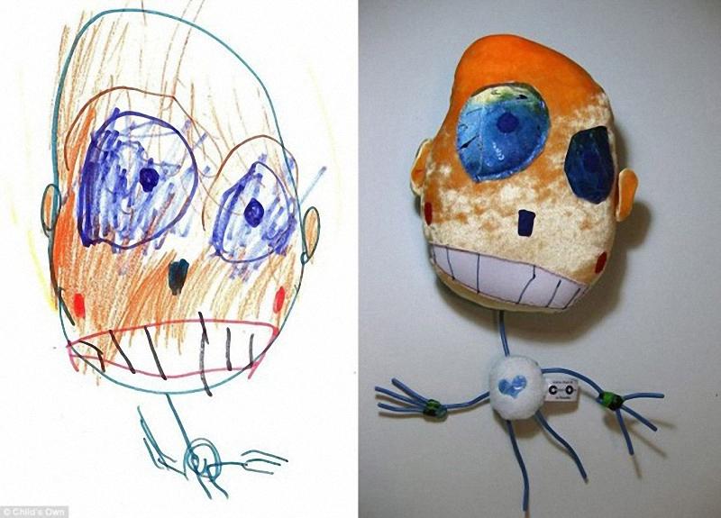 231 Игрушки, сшитые по рисункам детей